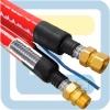 Трубопровод NANOFLEX DN16, двойной, черный цвет, сталь 316L, силиконовый кабель 1