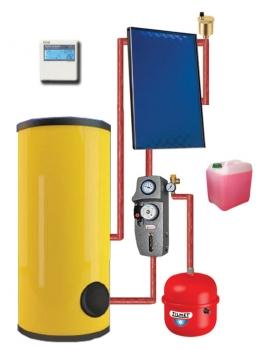 Круглогодичная гелиотермальная система на 300 литров (плоские коллектора)
