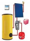 Круглогодичная гелиотермальная система на 150 литров (плоские коллектора)