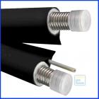 Трубопровід  NANOFLEX DN25, подвійний,чорний, сталь 316L, сіліконовий кабель