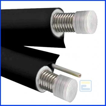 Трубопровід  NANOFLEX DN16, подвійний,чорний, сталь 316L, сіліконовий кабель