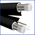 Трубопровід  NANOFLEX DN20, подвійний,чорний, сталь 316L, сіліконовий кабель