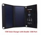 Солнечное зарядное устройство 15 Вт / SLS 15W 5V / туристическое раскладное