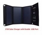 Солнечное зарядное устройство 21 Вт / SLS 21W 5V / туристическое раскладное