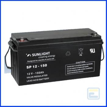 Аккумулятор 12В150А*ч / SP 12-150 / Sunlight / AGM