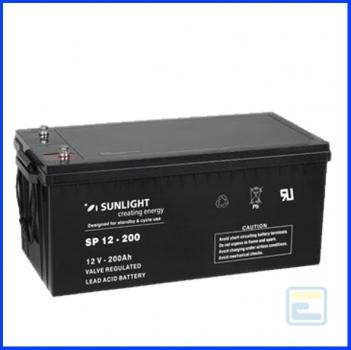 Акумулятор 12В 200А*ч / SP 12-200 / Sunlight / AGM