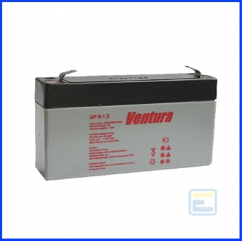 Аккумулятор 6В 1,3А*ч / GP 6-1,3 / Ventura / AGM
